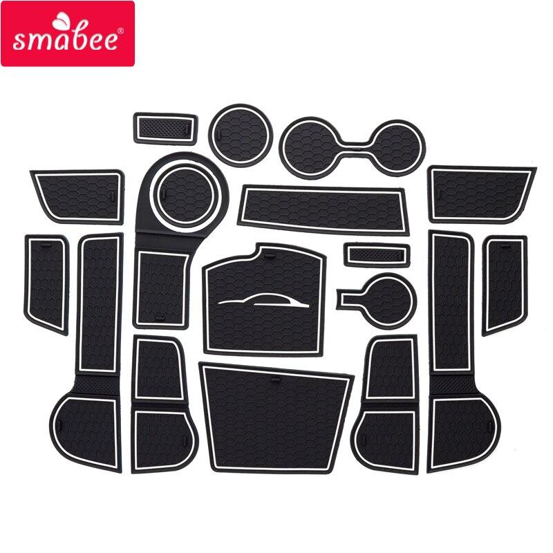 smabee Gate slot pad Non slip mats For Kia Rio 4 X Line RIO 2017 2018 2019 non slip mats Interior door pad cup
