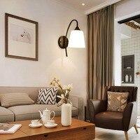 E27 Bedside led wall lamp iron
