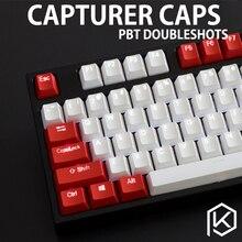 Capturer Backlit Doubleshot PBT Keycap Set Durable Shine Through Legends OEM profile Compatible with Cherry MX  104 87 GH60poker