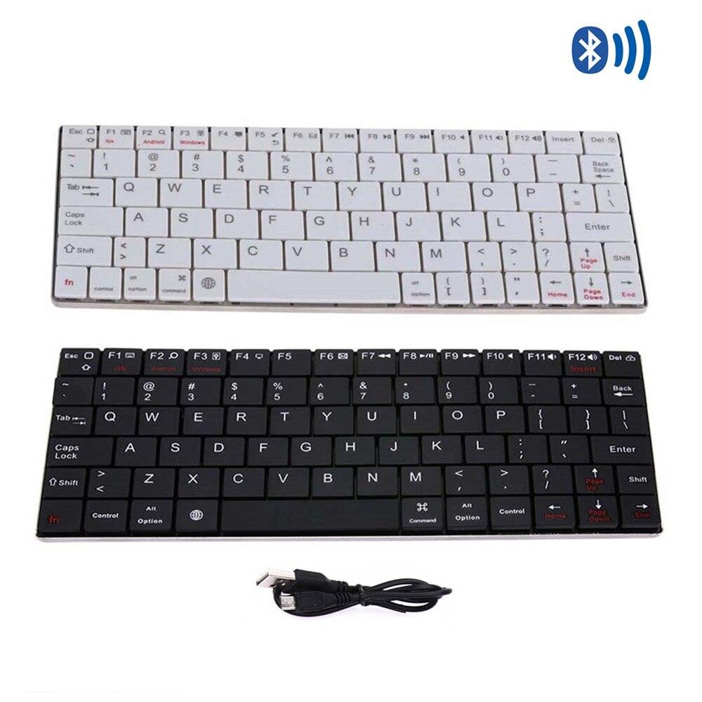Aluminum Ultra Slim Wireless <font><b>Bluetooth</b></font> 3.0 Keyboard for Computer PC Phone Mini <font><b>Teclado</b></font> Sem Fio Klavye for Android IOS Windows