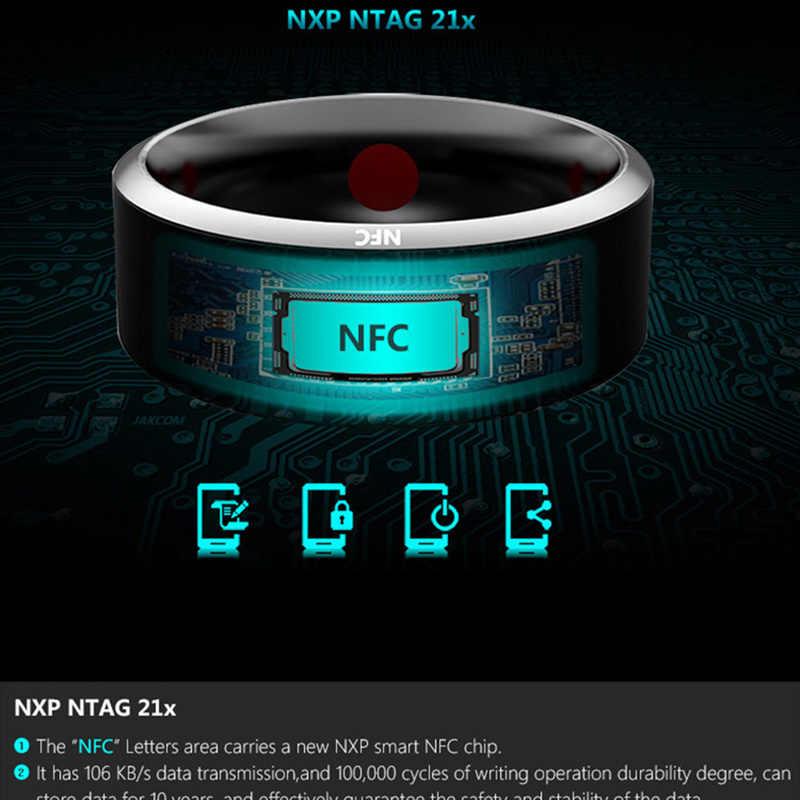 Nfcスマートリング防水摩耗魔法の指nfcリングiphoneサムスンhuawei社xiaomi windowsスマート電話スマートアクセサリー