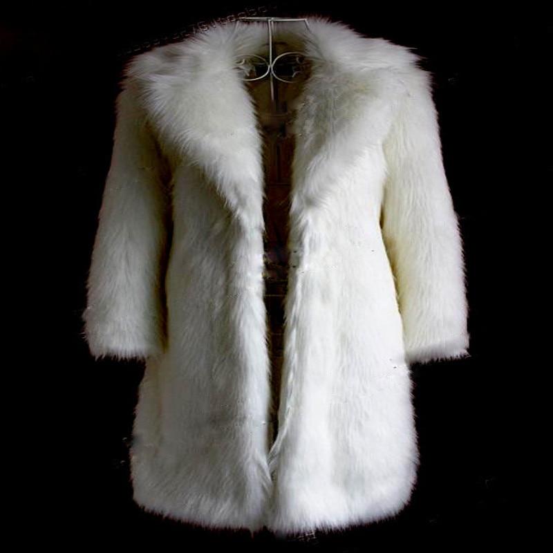 cou Nouveau En Chaud Fourrure Femmes Épais black Super Pardessus De Yasuguoji White Mode Renard 2018 Long rose V Manteau Fausse D'hiver Imitation Lpc16 qaSxwPZ5