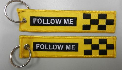 Следуй за мной Вышивка на обе стороны мешок тег - Название цвета: Yellow Black