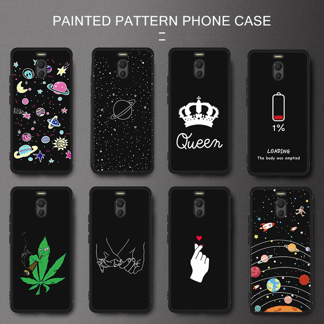Silicone Pattern TPU Phone Case For Meizu 16th Plus 16X X8 Note 8 Protective Mobile Phone Cover Cases For Meizu M6 M5 Note M5C