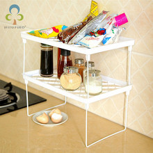 Superposition Shelf Multilayer Snap Type Plastic Foldable Storage Racks Kitchen Shelving Holders Multiuse Organizer GYH(China)
