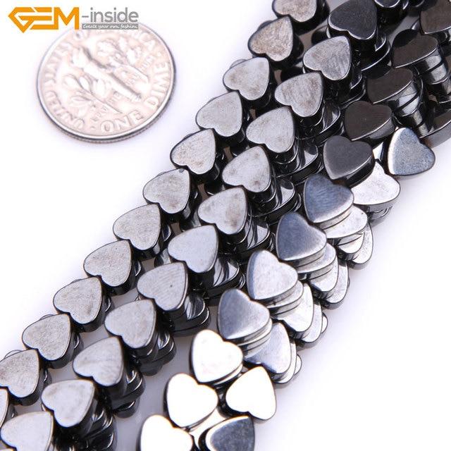 d4892b4ad19e Gema-dentro del corazón magnético magnetita hematita cicatrización piedra  perlas para la joyería haciendo collar