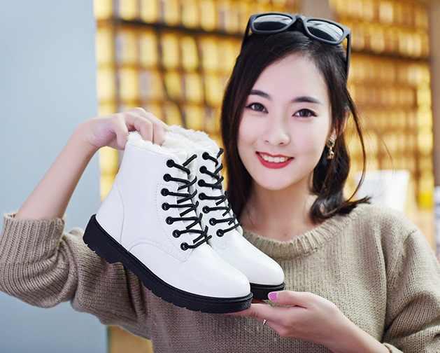 4 COLOES חדש סתיו חורף עבה עקבים באיכות גבוהה מוצק שרוכים PU אופנה נשים של מגפי עבה עקבים מגפי 35-41