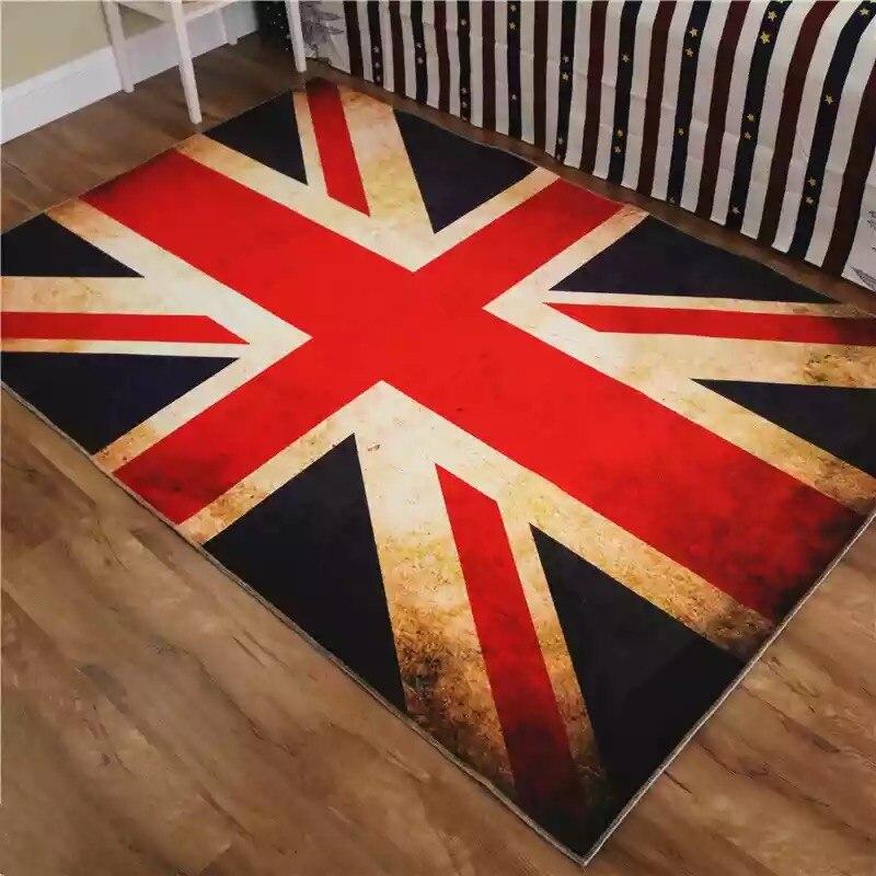 3D British Flag Printed Carpet For Sale Soft Coral Velvet Area Rugs For  Bedroom Non Slip