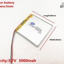 1 шт./лот 3,7 в 3000 мАч 506060 литий-полимерный Li-Po Li ion Перезаряжаемые Батарея клетки для Mp3 MP4 MP5 Игрушка Мобильный bluetooth