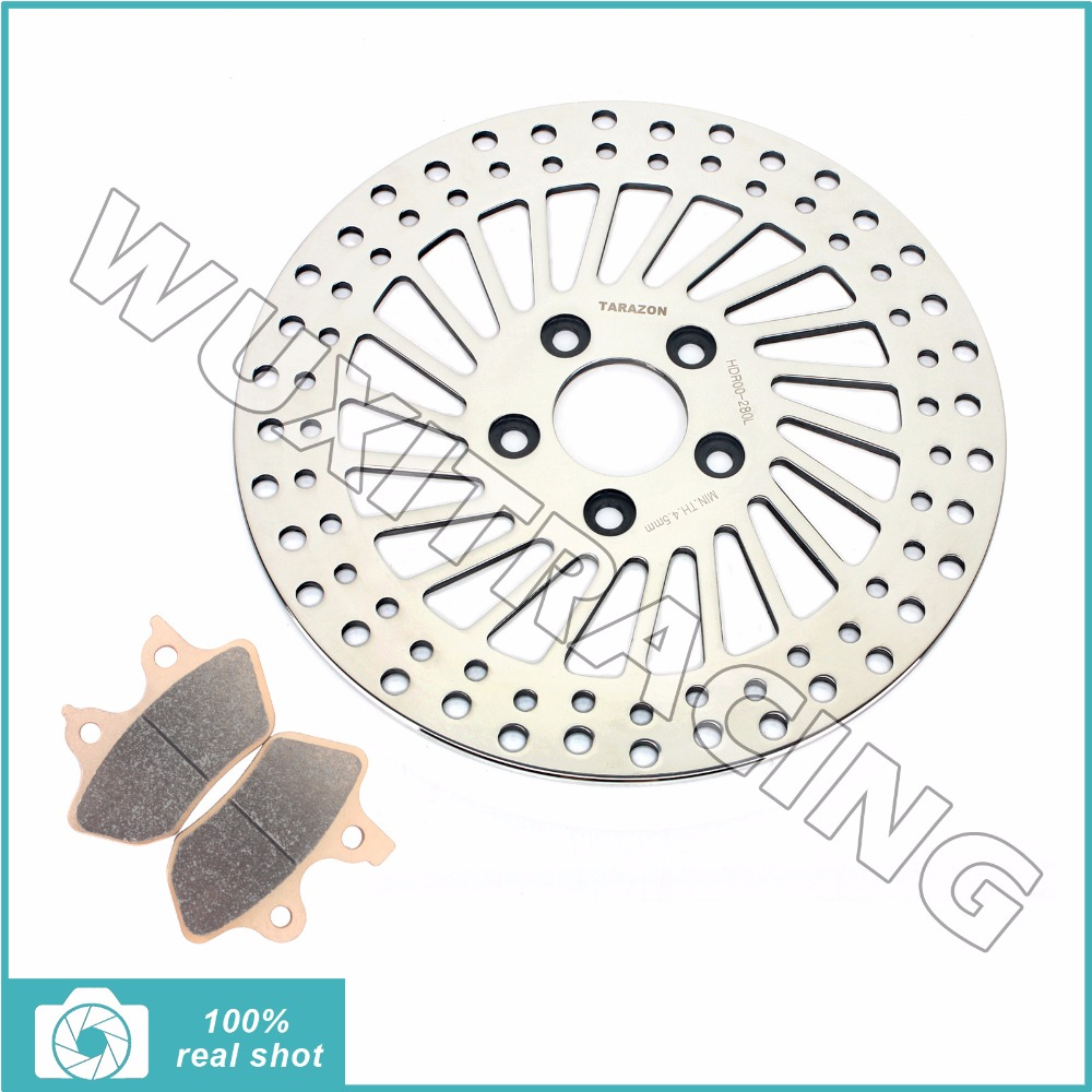 Front Brake Disc Rotor+ Pads for HARLEY Sportster 883 1200 XLH Custom 00-03 Softail 1450 FLSTC FLSTF I Heritage Fat Boy 05 06 07 цена и фото