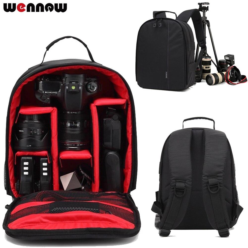 wennew DSLR Bag Backpack SLR Camera Case for Canon PowerShot SX60 HS G1 X Mark II III G5X EOS Rebel T7i T6i T6s T6 T5i T5 T4i