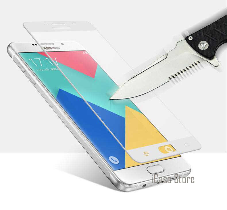Cubierta completa Pantalla de cristal templado colorido Protector para Samsung Galaxy A3 A5 2017 2016 J3 J5 J7 primer C5 C7 Pro S6 S7 A7 A8 película