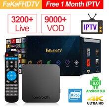 Francês KM9 Caixa de IPTV Android 9.0 Caixa De TV Com 1 Mês Árabe IPTV Europa França Itália luxemburgo países baixos Portugal Espanha REINO UNIDO Alemanha inteligente Caixa de TV IP