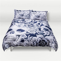 3 Skull Design Luxurious Digital Printing Cotton Bedding Set Duvet Cover Bed Sheet Pillowcase Bed Linen Bedclothes Home Textiles