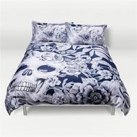 3 Skull Design Luxurious Digital Printing Cotton Bedding Set Duvet Cover Bed Sheet Pillowcase Bed Linen Bedclothes Home Textiles