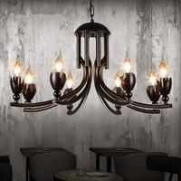 IWHD 6 головок висит железный Ретро Повесить светильники Спальня кафе бар Стиль Лофт Винтаж промышленных Lampen в ожидании освещения