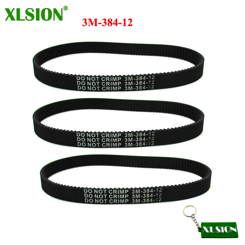 Drive & Gears Drive Belts Frugal Xlsion 3pcs 3m-384-12 Drive Belt For Pulse Revolution Slither City Skull Electric Scooters Motorcycle