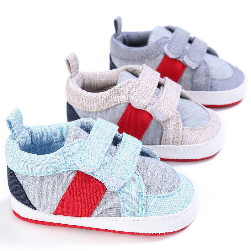 New Patch Canvas Shoes Sports Sneakers Newborn Baby Boys Girls First Walkers Infant Toddler Prewalker Soft Bottom Baby Shoes