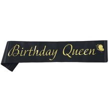 Happy Birthday Decoration Favor Gifts Queen Sash For Women Girls 18th 20th 21st 30th 40th 50th 60th Party