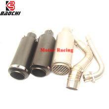 Motorcycle Exhaust System Connect Pipe Escape Muffler DB Killer Silencer Akrapovic for Yamaha Nmax125 Nmax 125 155 Nmax155 Sc все цены