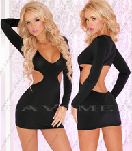 Beauty Naked waist Long sleeve Jumpsuit Low-cut * 3352 *Sexy Thongs G-string Ladies Bra