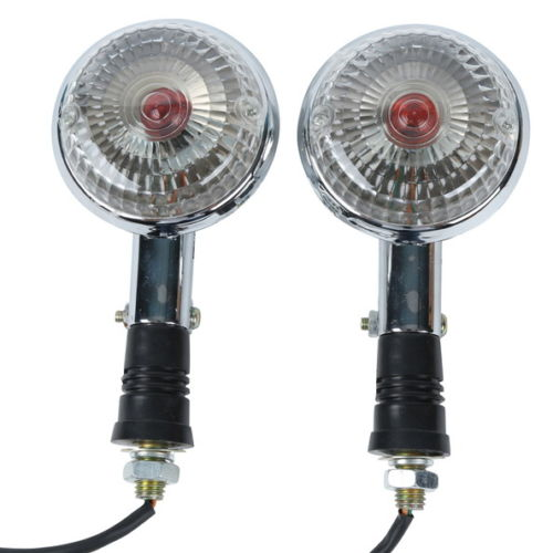 Motorcycle Clear Lens Front Turn Signals Lights For Yamaha Virago XV 250 XV S 400 650 1100