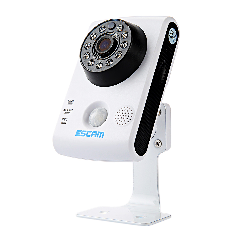 ESCAM QF502 IP Camera P2P HD 720P WiFi IR-Cut Night Vision IP Security Camera Support Two Way Audio Motion Detection