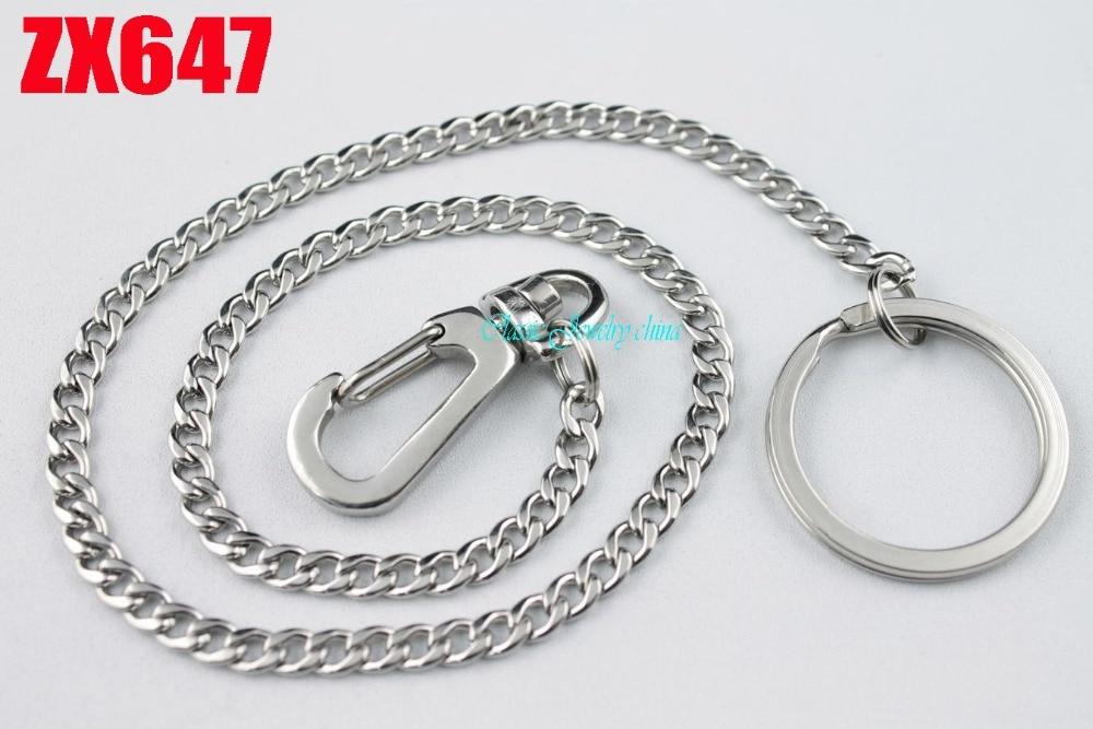 Hipster Forte 100% en acier inoxydable porte-clés porte-clés Porte-clés  Portefeuille Ceinture Anneau Clip 10 pcs ZX647 908dc0fcb69