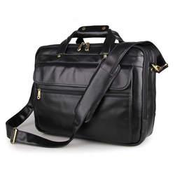 Винтаж Для мужчин Портфели Пояса из натуральной кожи Бизнес сумки два слоя большое пространство многофункциональная сумка подходит для 15