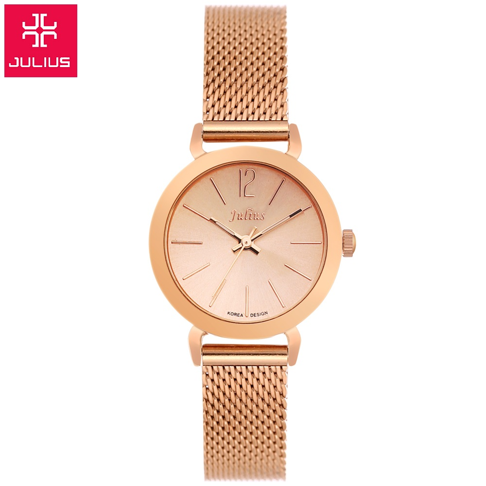 New Top brand Julius watch women luxury dress full steel watches fashion casual Ladies quartz watch Rose gold Female table clock gaiety women brand watches luxury rose gold leather quartz ladies wristwatches fashion sport women casual dress watch clock g447