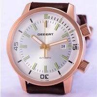 Мужские военные автоматические часы relogio masculino deberg, мужские часы s, роскошные брендовые Резиновые Спортивные наручные часы с календарем