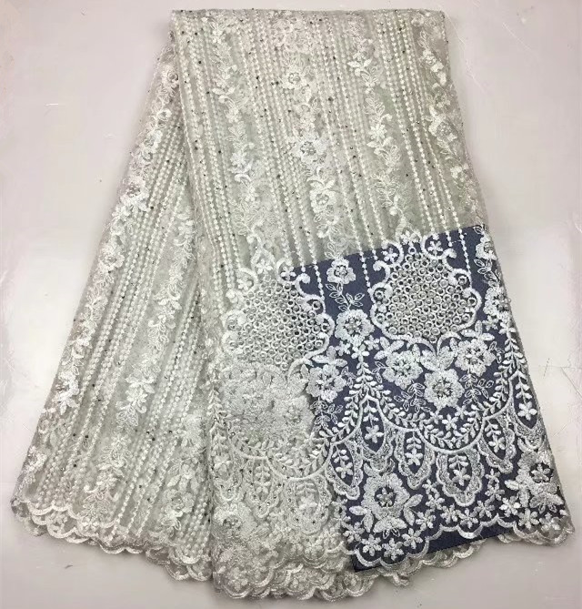 Hot Sale French Lace Fabric Peach 2018 Milan Lace Fabric Nigerian Fabric Bridal High Quality For Wedding Party Dress!506-1-1