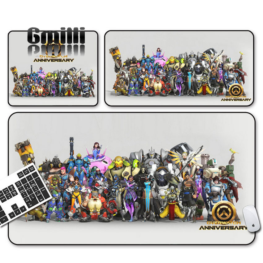 Gmilli Extended Large Speed Keyboard Mouse Pads Rubber Laptop Gaming Mousepad 700x300mm/ 600x300x3mm OVM22 Dropshipping