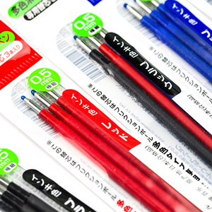 Image 3 - 6 refills/lot (2 Packs) Pilot LFBTRF 30EF 0.5 mm FriXion Ball Gel Multi Pen Refill Three Color Brushable Pen Core For Students