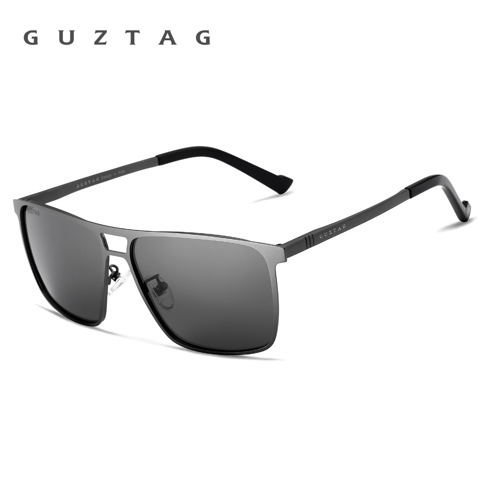 Guztag Cermin Kacamata Terpolarisasi UV400 Unisex Stainless Steel Square  Eyewear Berjemur Kacamata Pria Wanita G8029 di Sunglasses dari Pria Pakaian  ... cff2c140be