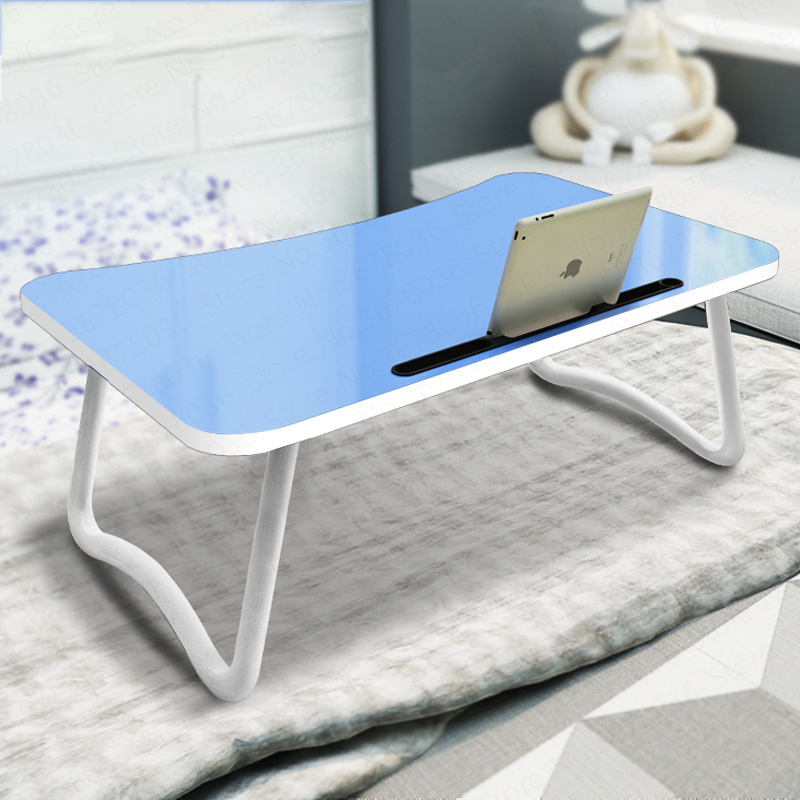 Bed Table Small with Lazy Folding Desk Learning Laptop Student Upper Shop Artifact  A Laptop Table  Escritorio  Foldable(China)