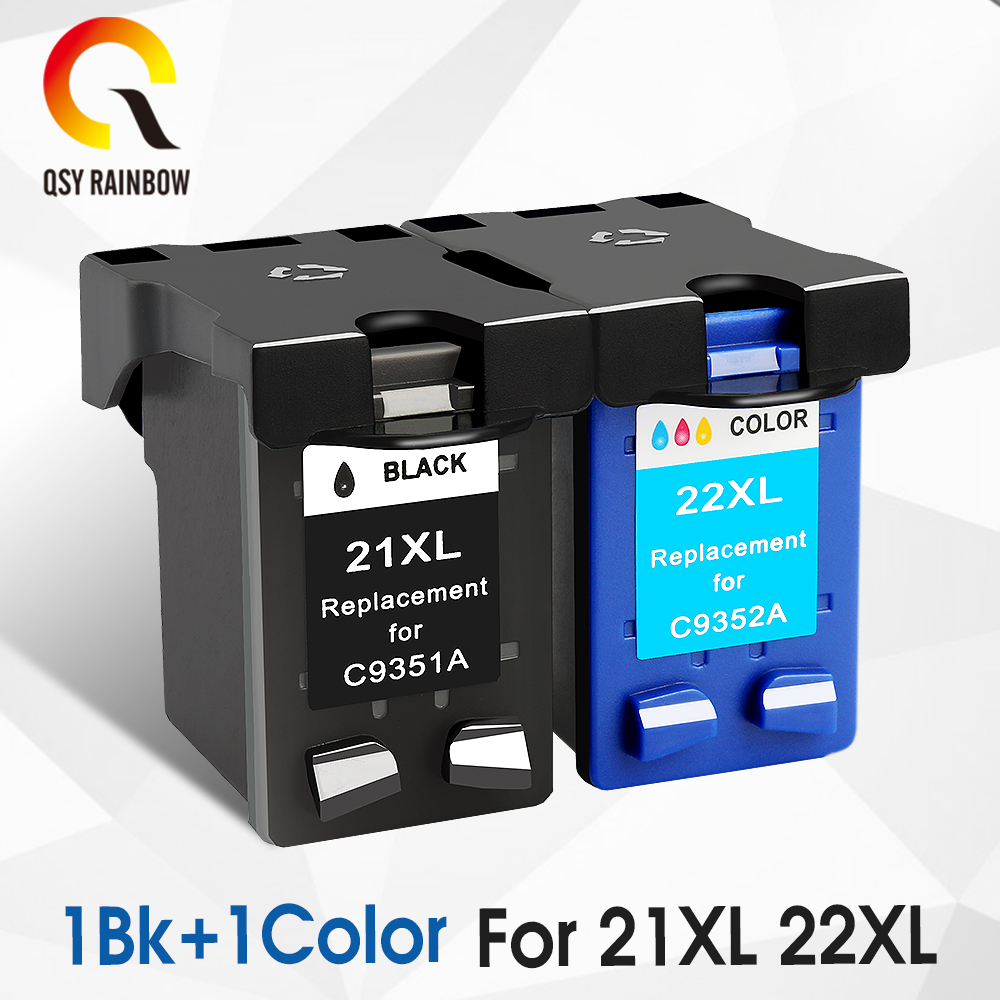 CMYK SUPPLIES ink cartridge Replacement For hp 21 HP21 for HP 21xl Deskjet F380 F2180 F2280 F4180 F4100 F2100 F2200 F300 hwdid 21xl 22xl refilled ink cartridge replacement for hp 21 22 use for deskjet 3915 1530 1320 1455 f2100 f2180 f4100 f4180
