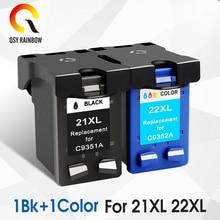 1 set For HP 21 Black Ink Cartridge HP21 21xl Deskjet F380 F2180 F2280 F4180 F4100 F2100 F2200 F300 D1500 D2300 Printer