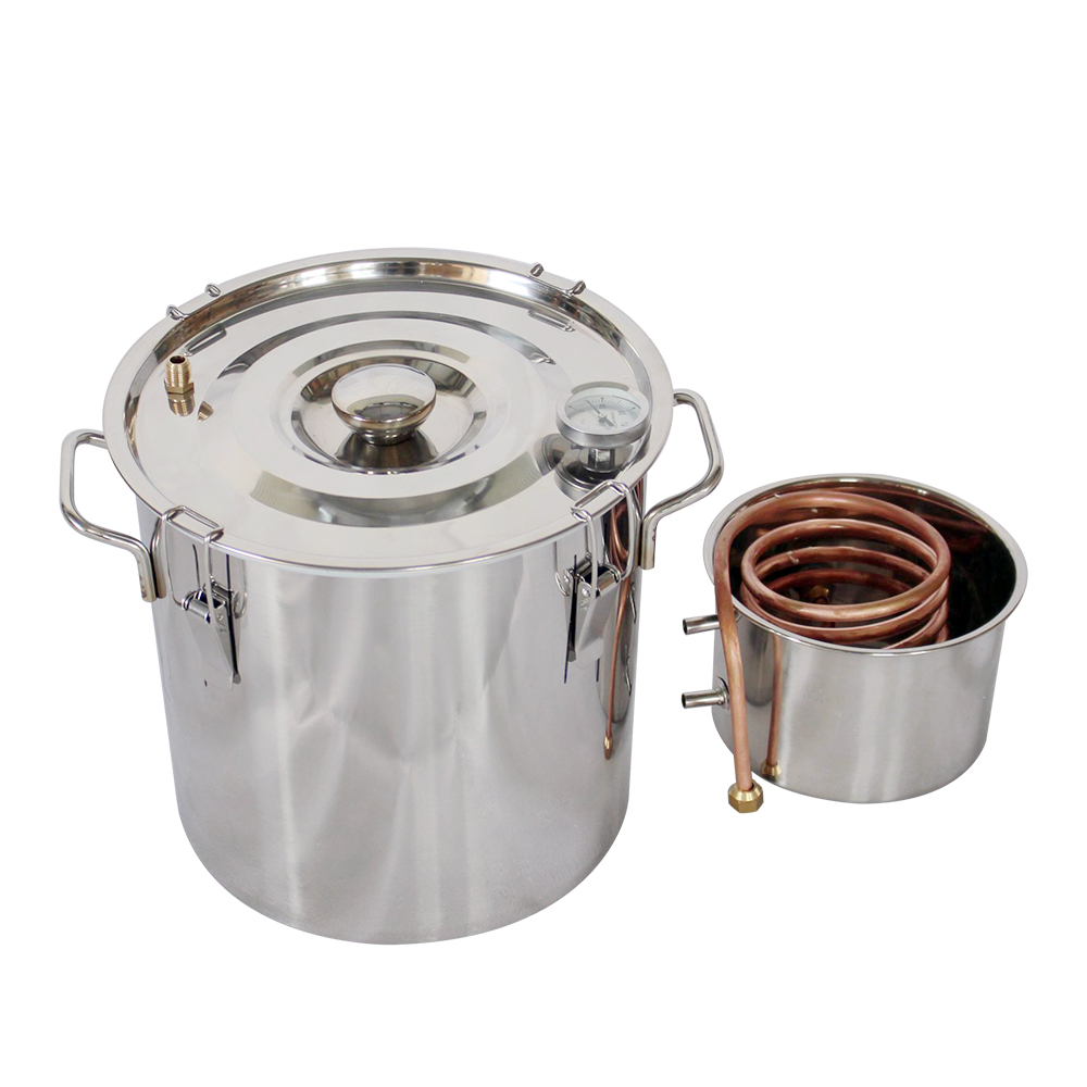 5 gallons 20L Alcohol Distiller Stainless Copper Water Alcohol Wine Distiller DIY Home Aroma Essential Oils
