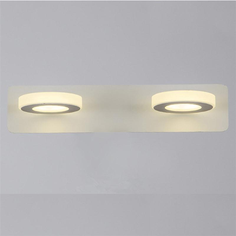 Bathroom Light Fixtures Led 10W Acrylic Round Bath Wall Bathroom Wall Lamp Wall Mounted LED Bathroom Mirror Wall Light Lamp цены