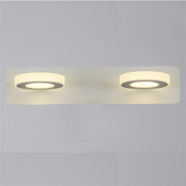 Bathroom Light Fixtures Led 10w Acrylic Round Bath Wall Lamp Mounted