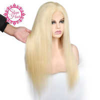 13*4 Lace Front Human Hair Wigs Slove Hair 613 Blonde Straight Brazilian Remy Human Hair With Baby-hair Preplucked