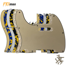 Pleroo Guitar accessories left handed Pickguards For American Standard Tele Telecaster guitar 8 Screw Holes Scratch Plate