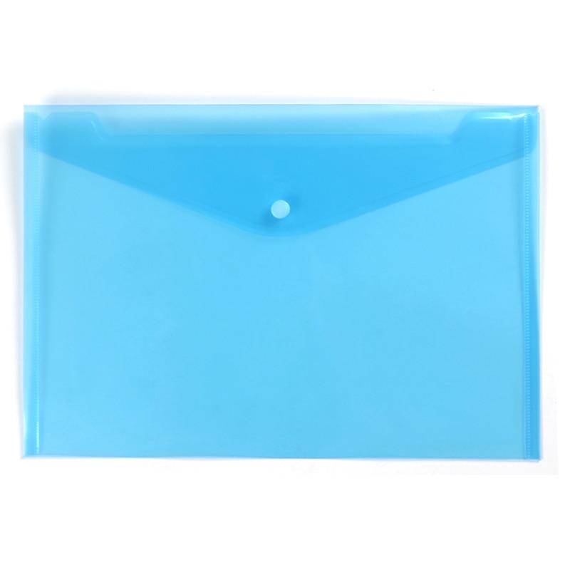 20pcs/lot Deli Expanding file folder a4 PVC plastic file folder a4 document bag wholesale factory transparent clear blue cheap