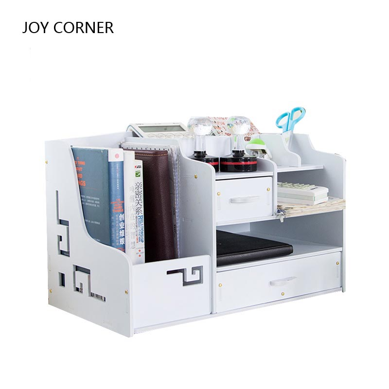 White Decorative Desk Sets Desktop Set File Cabinet Wood Document Cabinets Products for  ...