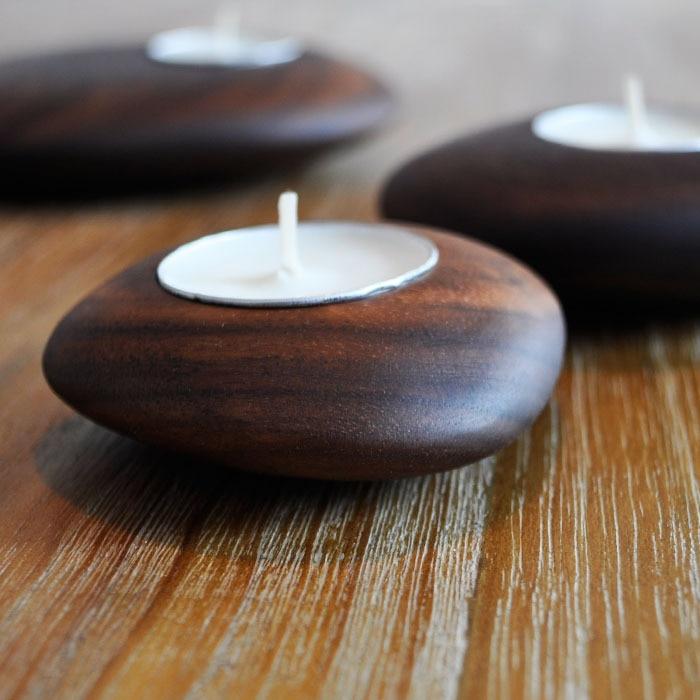 Aliexpress.com : Buy Handmade Candlestick Solid Wood Black ...