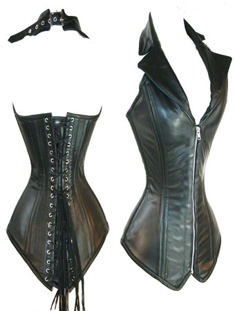 efc2cb649 Women Steel Bone Corset Faux Leather Corsets lace up Gothic Halter Black  Brown Bustiers Costume zipper up sexy steampunk corset