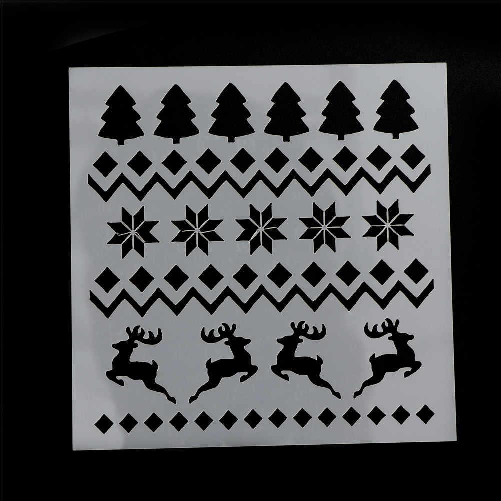1 ชิ้น/2 ชิ้นต้นคริสต์มาสร่าเริงคริสต์มาสคุกกี้เครื่องมือตกแต่งเค้กแม่พิมพ์เค้กแม่พิมพ์ลายฉลุอบเครื่องมือ