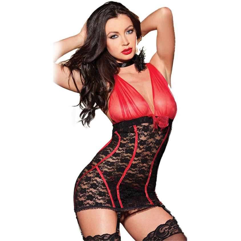 Hot Women's Erotic Dresses Sexy Body Skirts suit Nightwear Sex Toys Lingerie Lace Dress NOV29