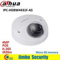 Dahua IP Камера 4MP купольная IPC HDBW4431F AS IR20m IP67 поддержка IK10 POE памяти Micro SD CCTV Камера Smart обнаружения поддерживается